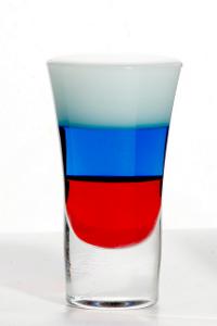 Коктейль Флаг России (Российский флаг) (Russian flag cocktail)