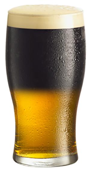 коктейль «Черное и голубое»