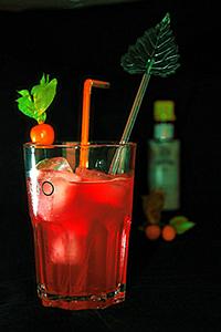Грейпфрутовые коктейли. Рубиновый восход (Ruby Rum Sunrise cocktail) с премиальным ромом