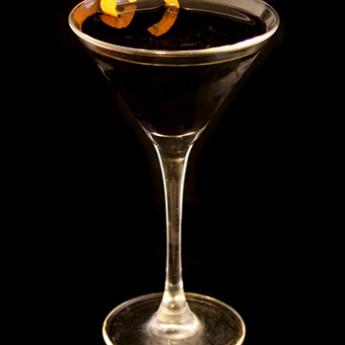 коктейль на основе бренди Черный мартини (Black Martini cocktail)